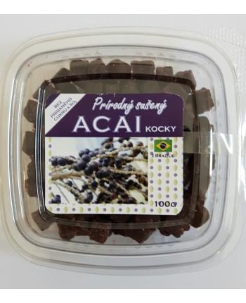 Prírodný sušený Acai 100g (kocky)