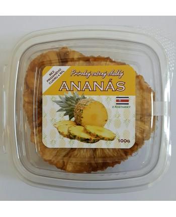 Prírodný sušený ananás 100g - Bez cukru (kúsky)