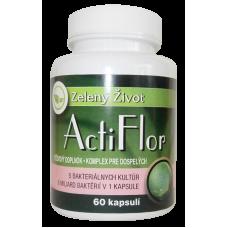 ActiFlor - Bakteriálne kultúry s prebiotikom 60 kapsúl