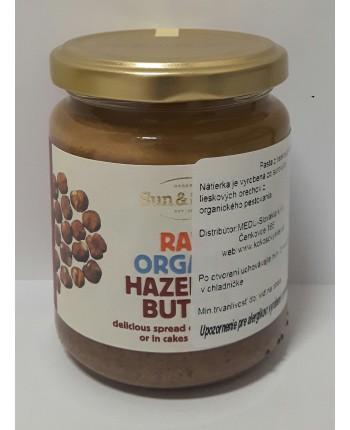 Pasta z lieskových orechov 250g Organic RAW