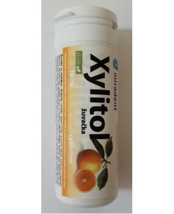 Xylitol žuvačka, čerstvé ovocie