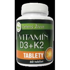 Zelený život Vitamín D3+ K2, 60 tabliet