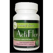Zelený život ActiFlor Bakteriálne kultúry s prebiotikom 30 kapsúl