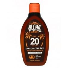 SUN ALOHA opaľovacie mlieko SPF 20 s kokosovým olejom 200ml