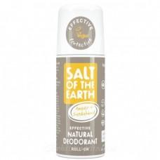 Salt of the Earth deodorant PURE AURA- jantár, santalové drevo s guličkou 75m