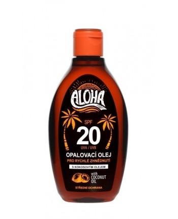 SUN ALOHA opaľovací olej SPF 20 s kokosovým olejom 200ml