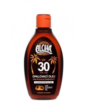 SUN ALOHA opaľovací olej SPF 30 s kokosovým olejom 200ml