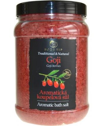 Body Tip Soľ do kúpeľa aromatická -Goji, 1500g