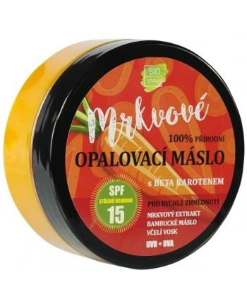 Vivaco BIO Mrkvové opaľovacie maslo s betakaroténom SPF15, 150ml