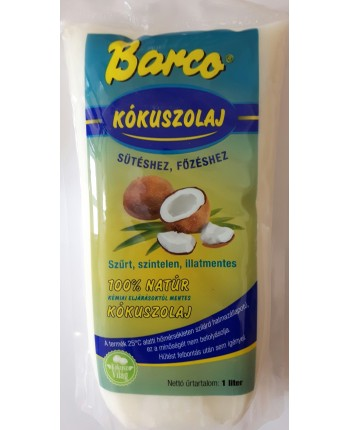 Barco Kokosový olej na varenie, pečenie 1000 ml (sáčok)